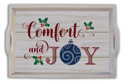 "18"" Comfort & Joy Serving Tray   MDF"