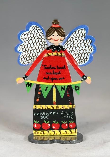 "5"" Teachers Inspirational Angel Figurine | Metal"