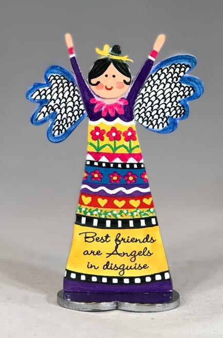 "5"" Best Friends Inspirational Angel Figurine | Metal"