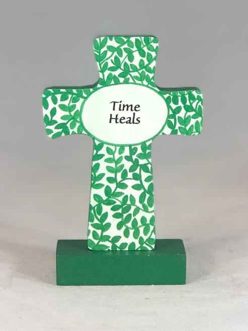 """4"""" Time Heals Standing Cross"""