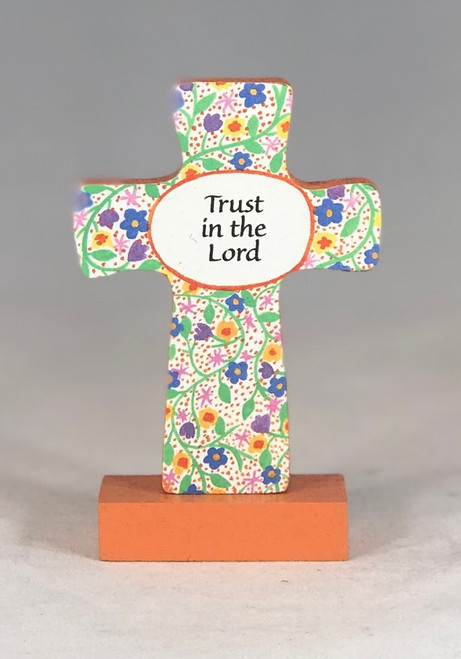 """4"""" Trust In The Lord Standing Cross"""