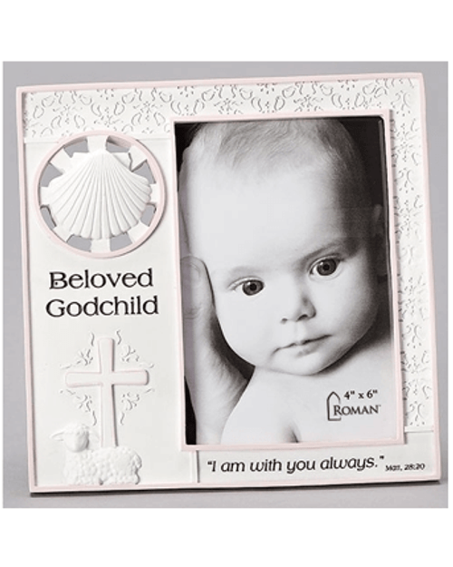 "7.25"" Girls Beloved Godchild Frame 