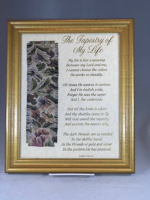 "8"" x 10"" Tapestry of My Life Framed Print with Fabric"