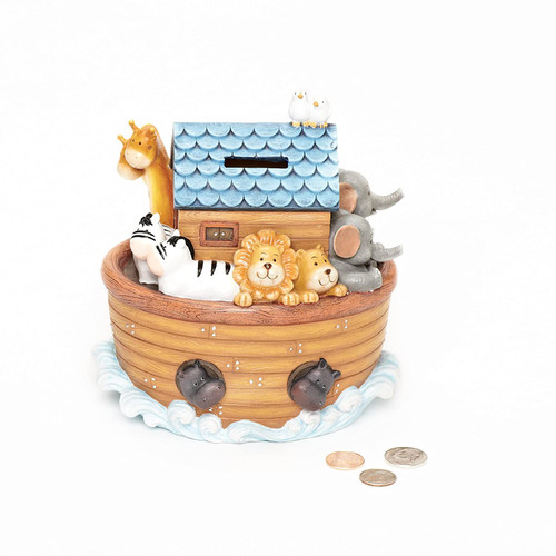 "6.5"" Noah's Ark Bank 