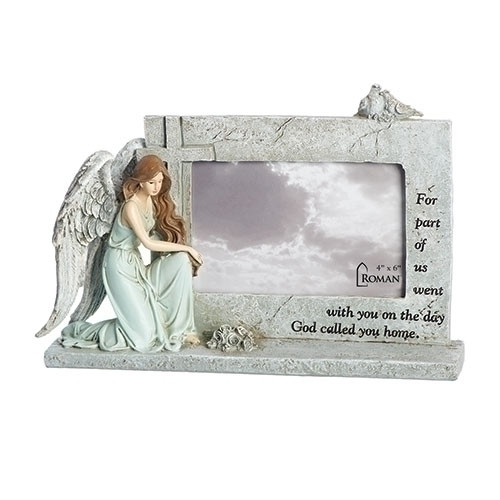 "7"" Memorial Angel Frame 