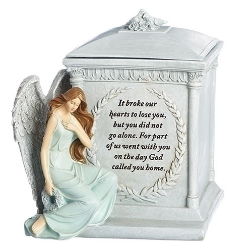 "8.5"" Angel Memorial Box with Prayer"