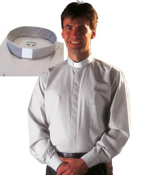 Grey Classico (100% Cotton) | Tab Collar | Long Sleeve