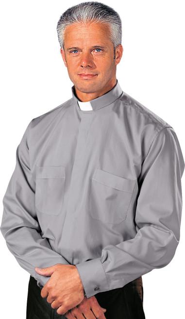 Grey Tradicio (65% poly/35% Cotton) | Tab Collar | Long Sleeve