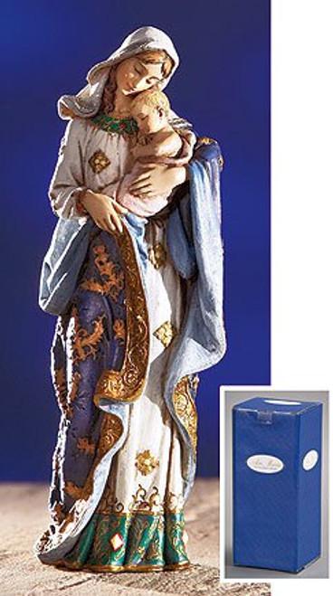 "7"" Ave Maria Madonna & Child Statue | Resin"