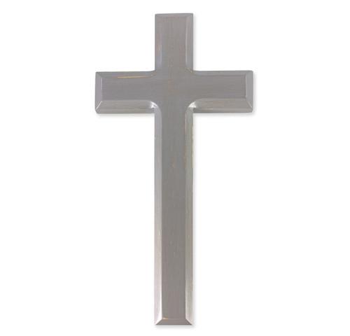 "Camtry Gray Wood Cross, 10"""