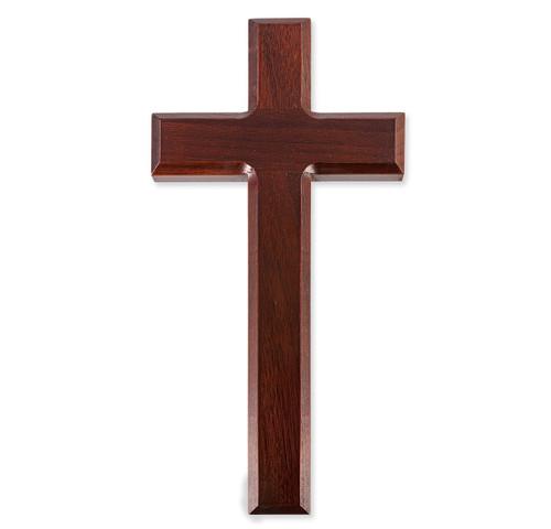 """Dark Cherry Wood  Cross, 10"""""""