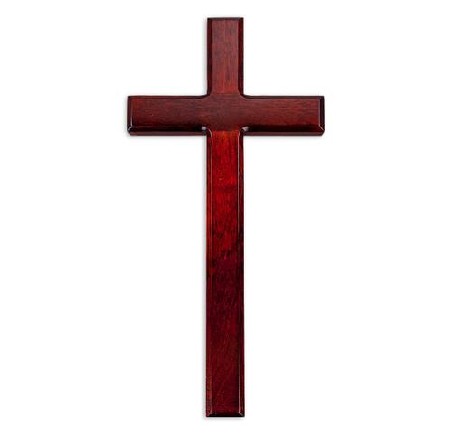 """Dark Cherry Wood Cross, 13"""""""