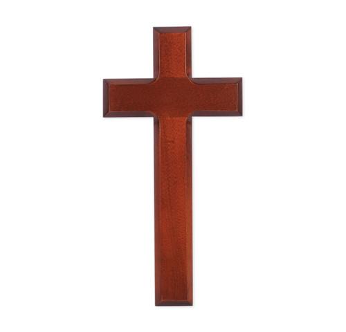 """Dark Cherry Wood Cross, 9"""""""