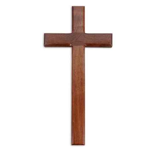 "Genuine Walnut Wood Cross, 13"" | Style A"