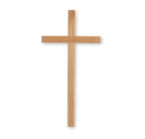 """Oak Wood Cross, 12"""""""