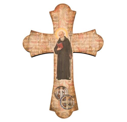 "St. Benedict Wood Cross, 12"""