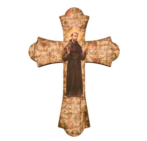 "St. Francis Wood Cross, 10"""