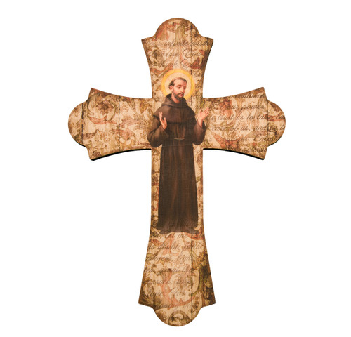 "St. Francis Wood Cross, 12"""