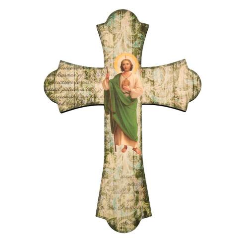"St. Jude Wood Cross, 12"""