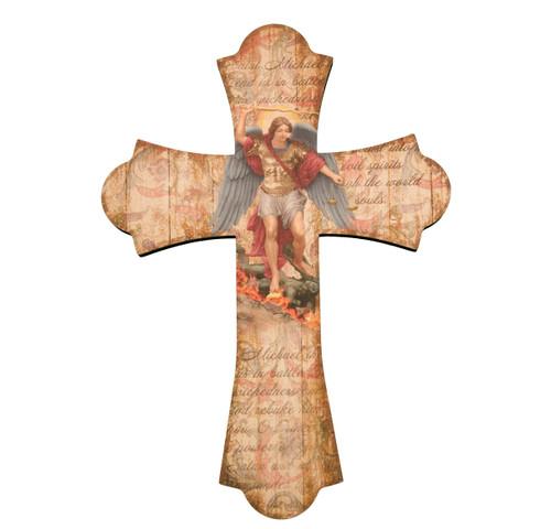 """St. Michael Wood Cross, 10"""""""