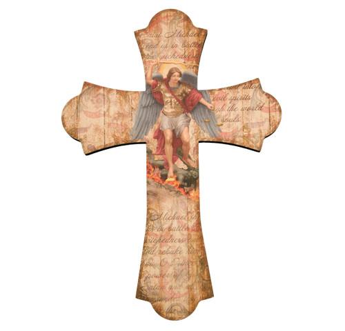 """St. Michael Wood Cross, 12"""""""