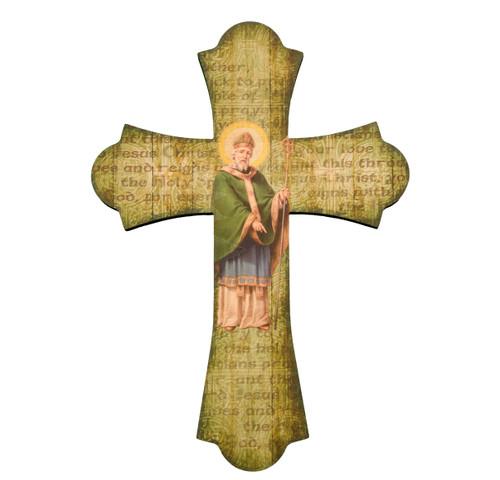 "St. Patrick Wood Cross, 10"""