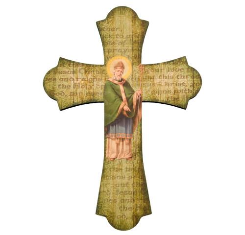 "St. Patrick Wood Cross, 12"""