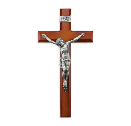 "Tutone Wood Wall Crucifix, 12"""