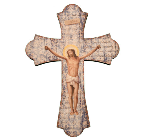 Wood Crucifix Cross, 12""