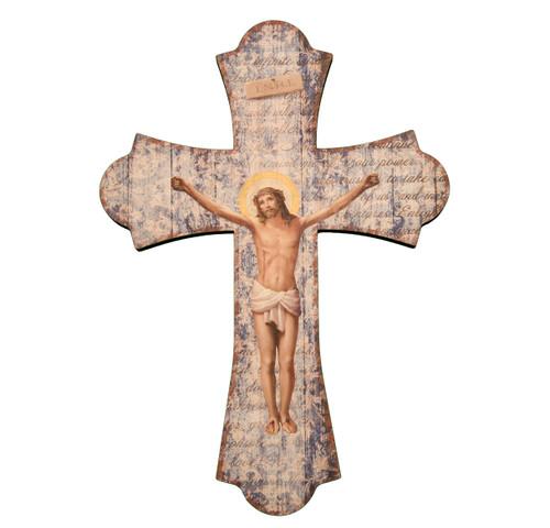 """Wood Crucifix, 10"""""""