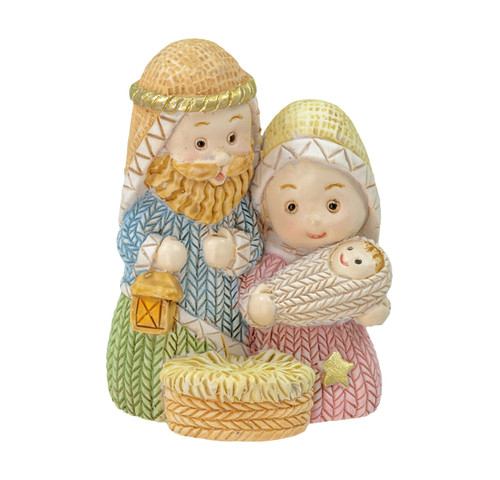 "2"" Yarn Holy Family Nativity Figure 