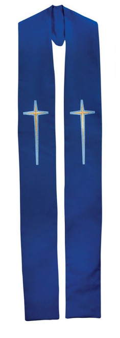 #711 Embroidered Cross Overlay Stole | All Colors