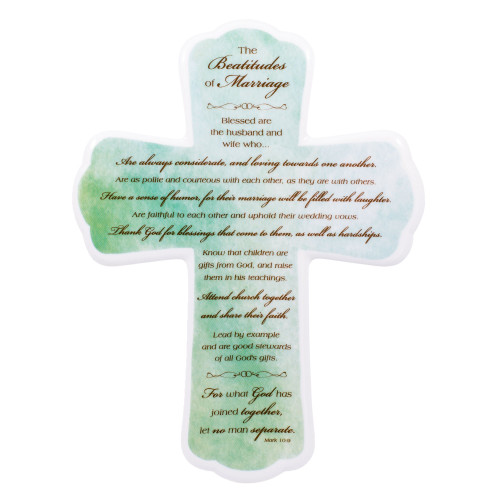 "10"" Beatitudes of Marriage Wall Cross 