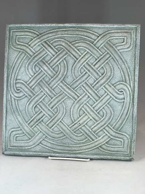 "12"" Square Celtic Knot Garden Stepping Stone | Resin"