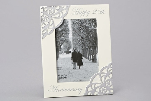 "9.5"" 25th Anniversary Picture Frame 