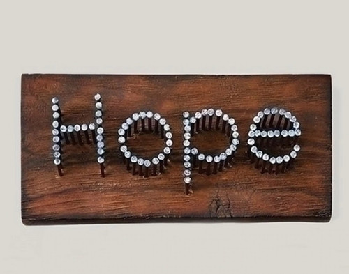 "9.5"" Hope Nail Plaque"