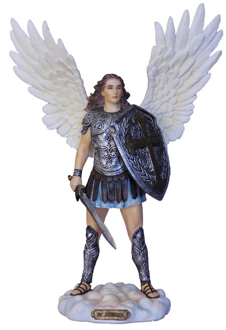 """11"""" St. Michael Armor Of God Statue 