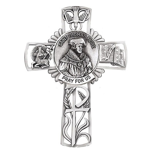 """5"""" St. Thomas More Wall Cross 