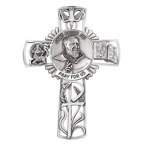 """5"""" St. Padre Pio Wall Cross 