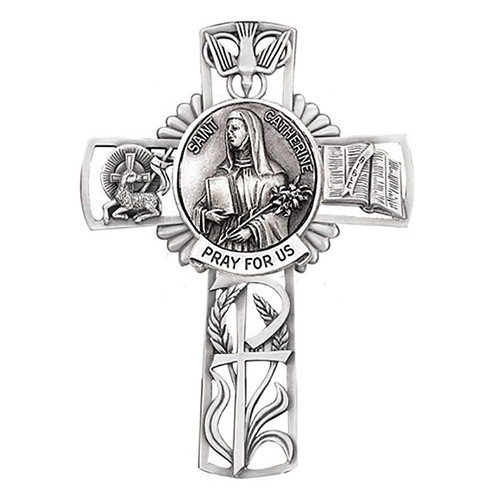 """5"""" St. Catherine Wall Cross 