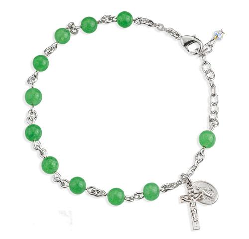 Genuine Aventurine Round Rosary Bracelet