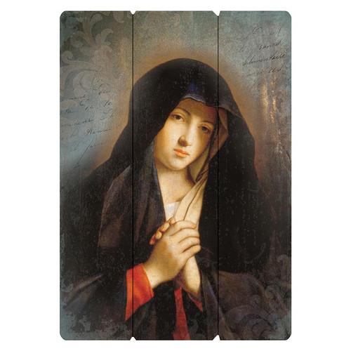Sassoferrato: Virgin In Prayer Large Pallet Sign