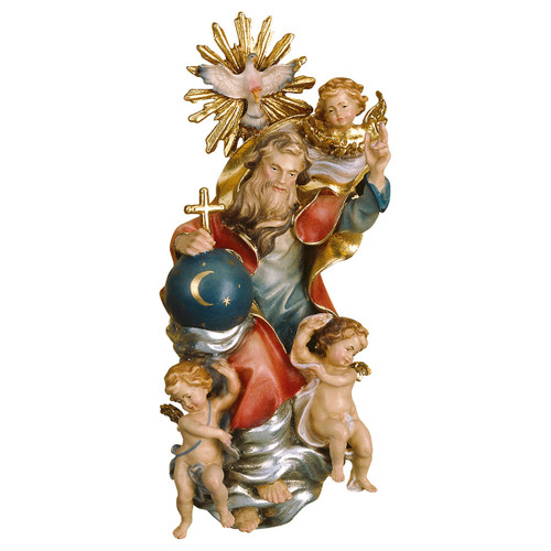 God the Father with Angels Figure | Hand Carved in Italy | Multiple Sizes