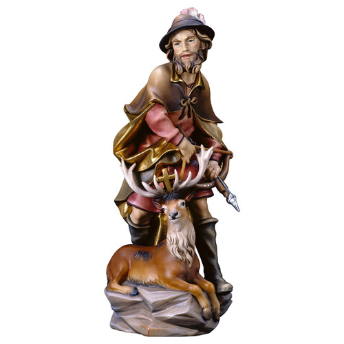 St. Hubert with Deer Statue | Hand Carved in Italy | Multiple Sizes