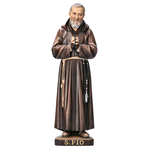St. Padre Pio Statue | Hand Carved in Italy | Multiple Sizes