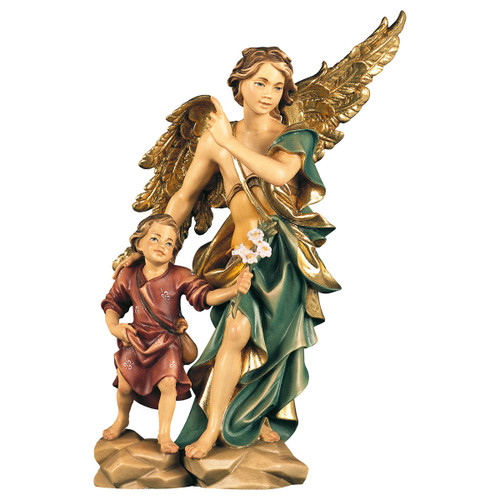 St. Rafael Archangel with Tobias Statue | Hand Carved In Italy | Multiple Sizes