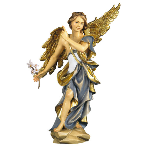 St. Gabriel Archangel with Lily Statue | Hand Carved In Italy | Multiple Sizes