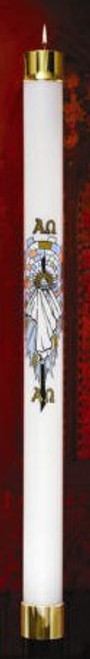 Risen Christ Paschal Oil Candle Shell | All Sizes