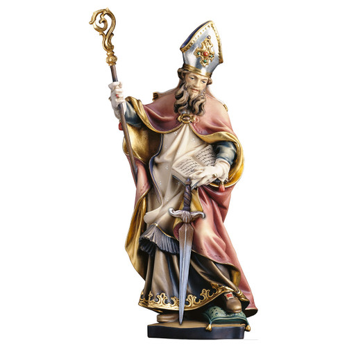 St. Thomas Becket with Sword Statue | Hand Carved In Italy | Multiple Sizes