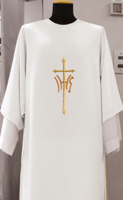 #518 IHS Cross Dalmatic | Square Collar | 100% Poly | All Colors